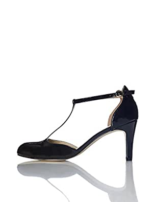 FIND Scarpe Mary Jane con Tacco Donna, Nero (Black), 36 EU