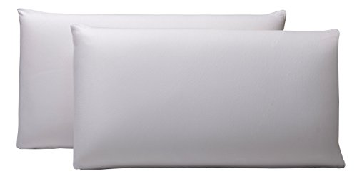 Pikolin Home - Pack de 2 fundas de almohada Lyocell, impermeables, 40 x 70 cm, color blanco