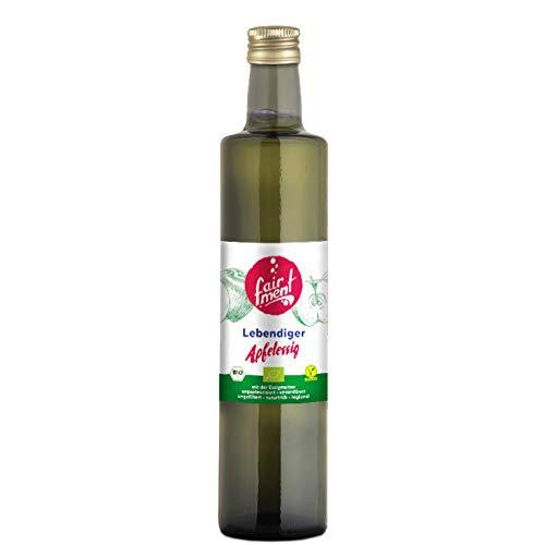Fairment Apfelessig – bio, naturtrüb, mit der Essig-Mutter, unpasteurisiert, lebendig und ungefiltert – Apple Cider Vinegar aus deutscher Produktion (3 Liter)