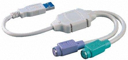 BIGtec USB 2x PS/2 Adapter für Tastatür und Maus , USB Maus Adapter , USB Tastatur Adapter , USB 2 x PS2 Anschluß , Adapter USB auf Tastatur und Maus , USB PS2 Konverter , USB - Converter 2x PS2 , PS/2-Adapter für USB Aktiv 2-x PS2-Maus -Tastatur - Maus-usb-konverter