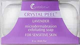 Crystal Peel Lavender Microdermabrasion Exfoliating Soap Body Bar, 8 Ounce by Crystal Peel (Exfoliating Bar Body)