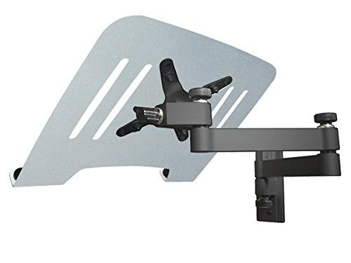 DRALL INSTRUMENTS Laptop Wandhalterung Halterung (TÜV SÜD-geprüft) schwarz mit Notebook Adapterplatte Ablage Silber Modell: L52B-IP3S