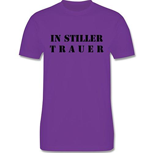 JGA Junggesellenabschied - In stiller Trauer - Herren Premium T-Shirt Lila