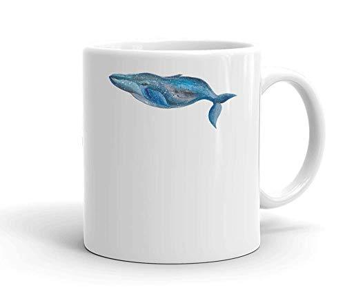 IDcommerce Majestic Whale Swimming Tasse en Céramique Blanche pour Le Thé Et Le Café