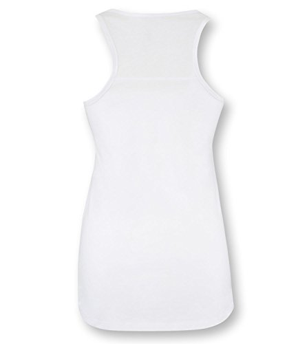EZYshirt® Football Evolution Damen Tanktop Weiss/Hellbl/Rosa