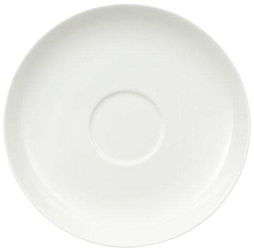Villeroy & Boch Royal Café au Lait-Untertasse, 18 cm, Premium Bone Porzellan, Weiß