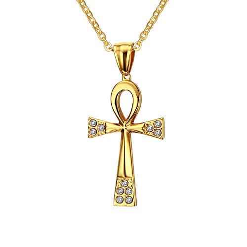 Collar colgante para hombre o mujer elección, que representa la cruz de la vida egipcia o manipulados de la cruz.Le ofrecemos la posibilidad de elegir entre varios modelos y dimensiones de esta cruz egipcia Ankh.Con o sin diamantes de imitación, gran...