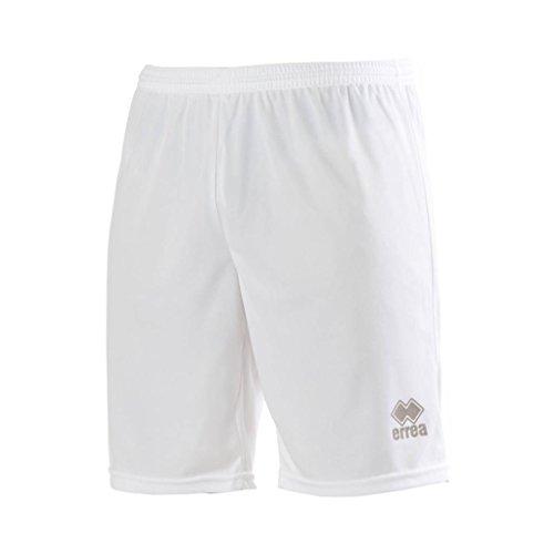 MAXI SKIN AD Trainingshose (knielang) von Erreà · ERWACHSENE Herren Damen Trainingsshorts (kurz) · REGULAR-FIT Bermuda Sporthose (komfortabel) für Teamsport · PERFORMANCE Running Sport Shorts (strapazierfähig) aus Polyester-Material · (Farbe weiß, Größe L) (Fußball Adidas Warm-up-hose)