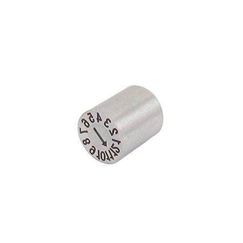 8mm-Silber-Ton-Edelstahl-Nummer 1-12 Monat Mold Datumsstempel