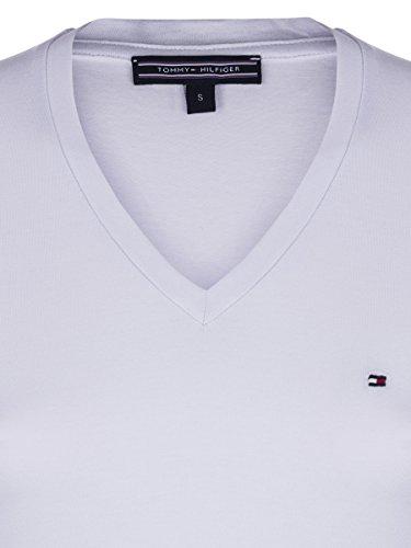 Tommy Hilfiger Damen T-Shirt V-Neck Classics Weiß