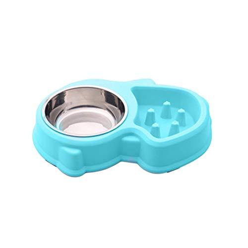 Hermosairis Einfach sauber Anti-Slip Haustiere Hunde Essen Feeder Bowl Durable Anti Würgen Hunde Essen Schüsseln verlangsamen Essen Feeder Bowl