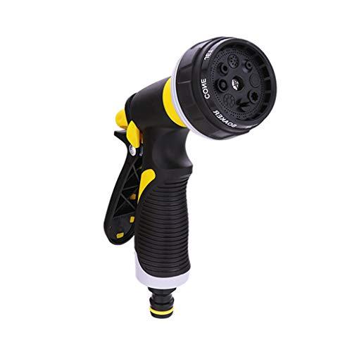 Wasserpistole Single Water Gun ABS + Gummi Material zum Waschen Auto/Bewässerung Blumen/Gemüse/Reinigung Windows/Boden (gelb/schwarz) -