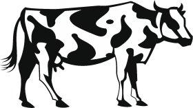 Mister Merchandise Tote Bag Kuh Cow Borsa Bagaglio , Colore: Nero Naturale