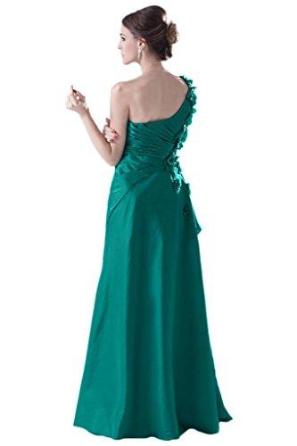 Sunvary Vintage spalle decorazioni imbottito decorato con strisce di tessuto pieghettato Gowns Sera Sera Hunter Green