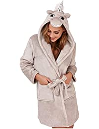 Ladies Robe Dressing Gown Winter Size 8 10 12 14 16 18 20 22 Unicorn Cow bb263ac5f