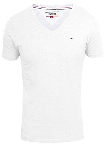 Tommy Hilfiger Denim Panson Vneck Herren T-shirt Weiß