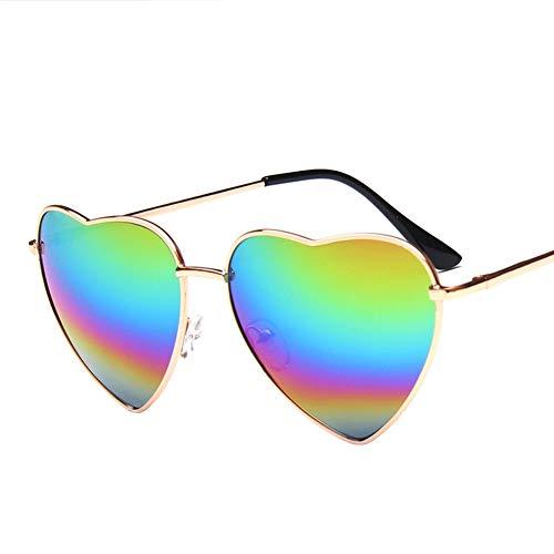 Haodou Herzförmige Sonnenbrille Doppel Pfirsich Herz Metall Sonnenbrille Damen Shopping Gläser...