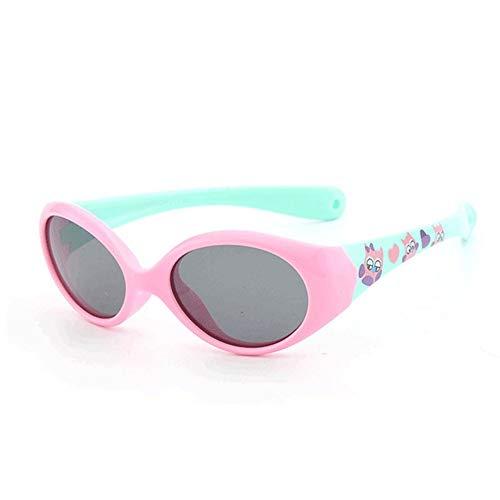 QDE Sonnenbrillen Kleine Kindersonnenbrille Polarisierte Für 1 2 3 Jahre Alte Kinderbrillen Für Baby-Flexible Sicherheits-Schatten-Jungen-Mädchen Mit Seil, C