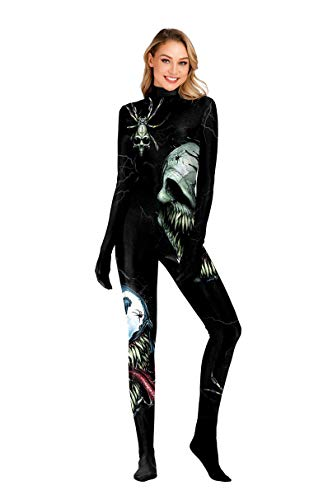 URVIP Unisex Halloween Unheimlich Gespenstisch Bodycon Party Cosplay Kostüm Overalls WB141-009 XL