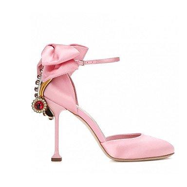 Talloni delle donne Primavera Estate Autunno Dress Club scarpe di seta Party & Sera stiletto tacco casual strass bowknot Nero Rosa Black