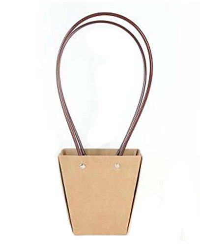 Ensemble de 3 sacs en bois Boîte de trapézoïde Boîte de papier Kraft Paniers
