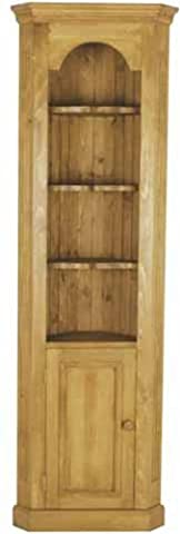 Wye Pine Open Corner Cabinet - Finish: Lacquer - Stain: Cherry