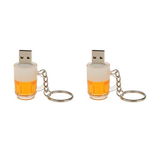 D dolity 2 pcs chiavette unita flash drive usb 2.0 con forma di birra tazza pendrive 16+8 gb accessori informatici per pc computer