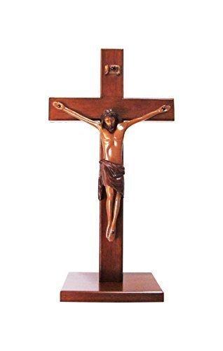 Christian large legno di legno Corpus in piedi Croce 25cm