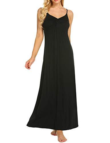MAXMODA Maternity Kleid, Damen Umstandsmode Sommerkleid Festliches Umstandskleid Schwangeren Kleider Mutterschaftskleid Nachthemd Schwangerschaft Stillkleider Schwarz - 3