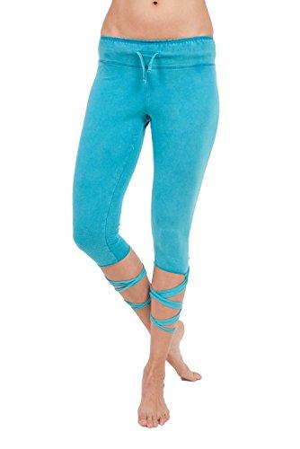 Maria Malo 1704008, Legging de Sport Femme Turquoise