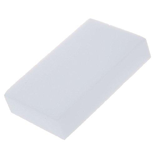 SODIAL(R)100x60x20mm 10pcs eponge Magique gomme a effacer melamine nettoyeur-blanc