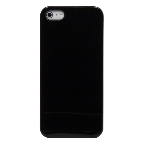 CUSTOM Black Hard Plastic Snap-On Case for Apple iPhone 5 / 5S - Purple Blue Black Orion Nebula