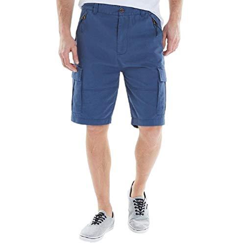Firetrap Herren Loke Cargo Shorts Blau (Small Bund 76cm)