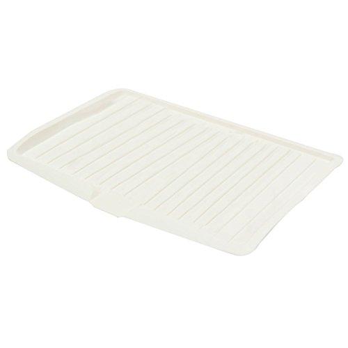 egouttoir a vaisselle - TOOGOO(R)egouttoir a vaisselle en plastique Plateau d'egouttoir Panier cuisine evier Rack support grand blanc