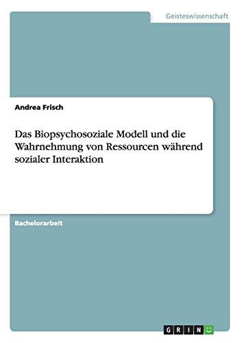 Das Biopsychosoziale Modell und die Wahrnehmung von Ressourcen während sozialer Interaktion