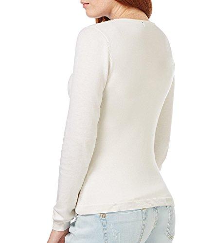 WoolOvers Cardigan douceur à col V - Femme - Soie & Coton Natural White