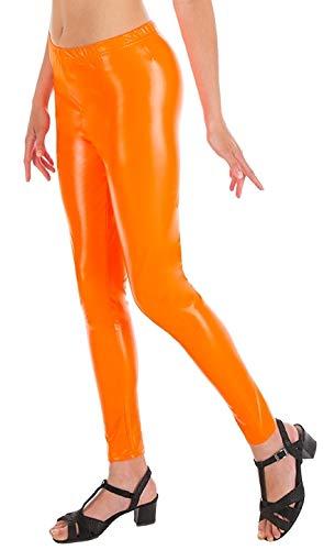(Chaks C4450S Luxe Leggings für Erwachsene, Neon Orange, Größe S/M)