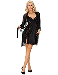 ce8eb8314a3d Dressing Gown and Nightdress Nightshirt Womens Set Sexy Lingerie Mirabella
