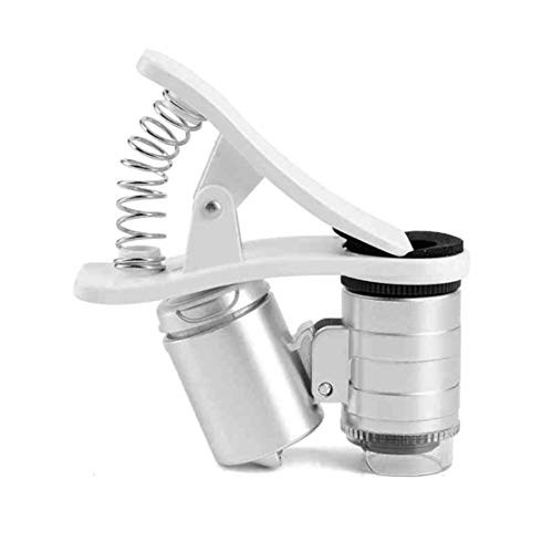 LouiseEvel215 Mini Money Tester 60X Pocket Microscope Magnifier Loupe Vetro LED Luce UV Rivelatore di valuta con Lente d'Ingrandimento