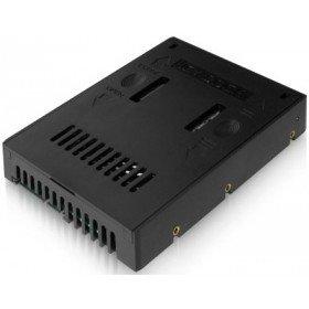 Icy Dock EZConvert MB882SP-1S-2B - 2,5 Zoll (6,4cm) zu 3,5 Zoll (8,9cm) SATA SSD/HDD Konverter - Schwarz -