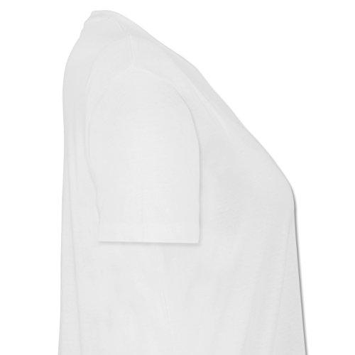 Städte - Frankfurt - Lockeres Damen-Shirt in großen Größen mit Rundhalsausschnitt Weiß