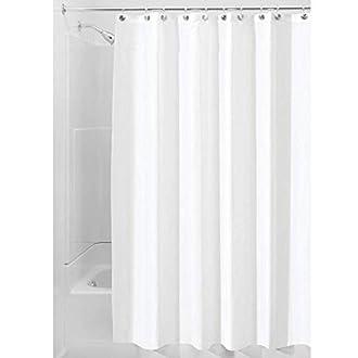 iDesign Tenda doccia, Tenda da doccia in poliestere con orlo rinforzato, Tenda per vasca da bagno lavabile con dimensioni di 180,0 cm x 200,0 cm, bianco