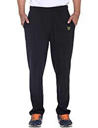 VIMAL Men's Black Cotton Trackpants