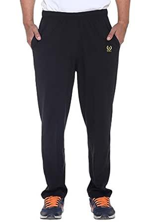 VIMAL JONNEY Men's Cotton Trackpant (D10BLACK-S)-D10BLACK-S