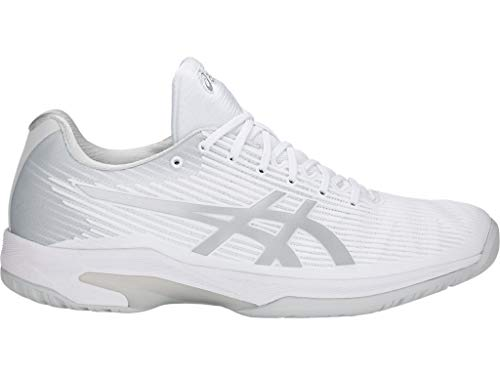 ASICS Mens Solution Speed FF Tennis Shoe, White/Silver, Size 8.5
