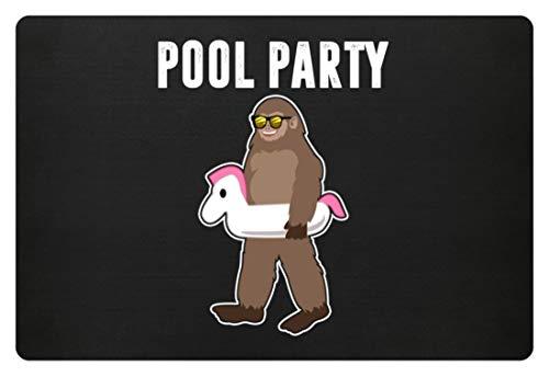 Pool Party - Coole Leute, Partybesucher, Party Faces, Feiern, Feste, Jungen, Männer, Herr - Fußmatte
