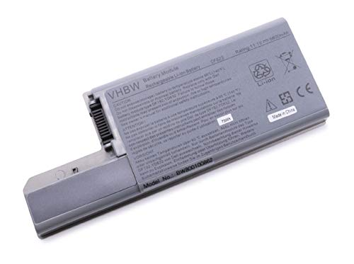 vhbw Akku für Dell Latitude D531, D820, D830 und Dell Precision M65, M4300 Notebook Laptop wie 312-0393, 312-0394, 312-0401 - (Li-Ion, 6600mAh, 11.1V) (Latitude Akku D830)