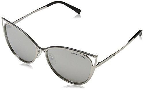 Michael Kors Damen INA 11666G 56 Sonnenbrille, Gray Marble/Silver-Tone/Silvermirror,