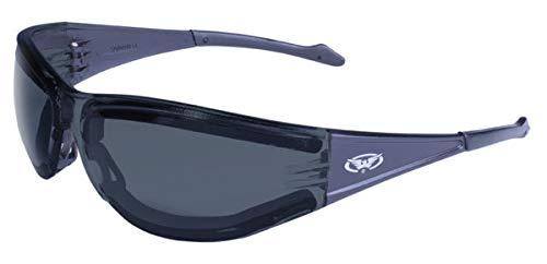 Global Vision Eyewear Full Throttle Plus Anti-Fog-Schutzbrille mit Neopren Schaum, Smoke Objektiv