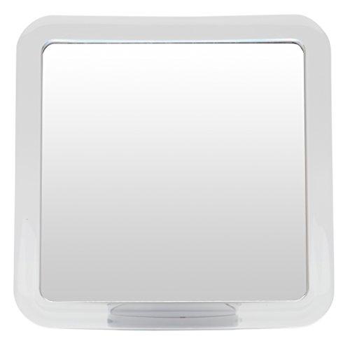 Espejo de ducha y afeitado sin vaho Mirrorvana con base de ventosa, aumento 3X, 6,3 x 6,3 pulgadas